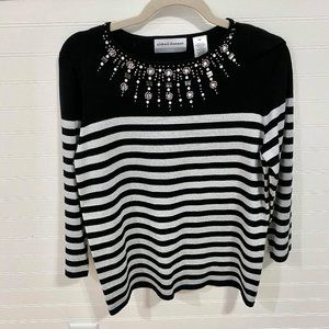 Alfred Dunner Black & Silver Sweater